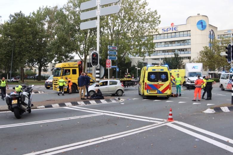 Ernstig ongeval bij oprit naar A20