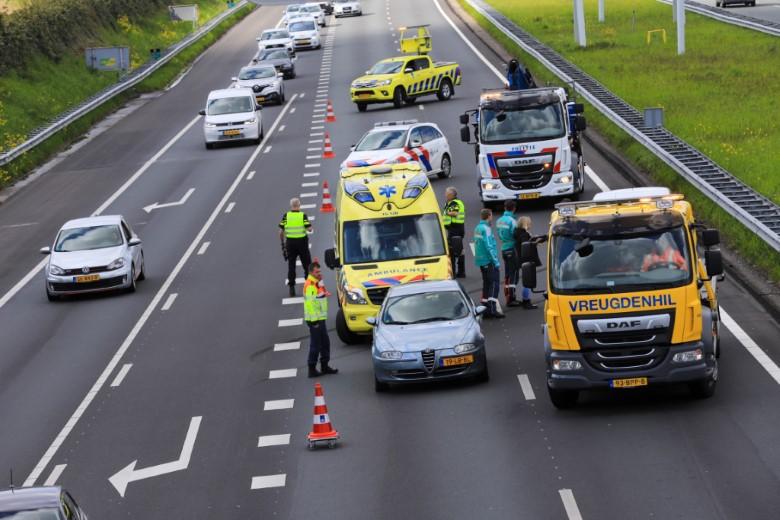 Gewonde bij ongeval A4