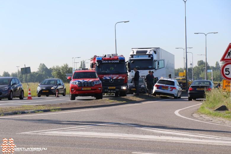 Ongeluk bij verkeerslichten N468