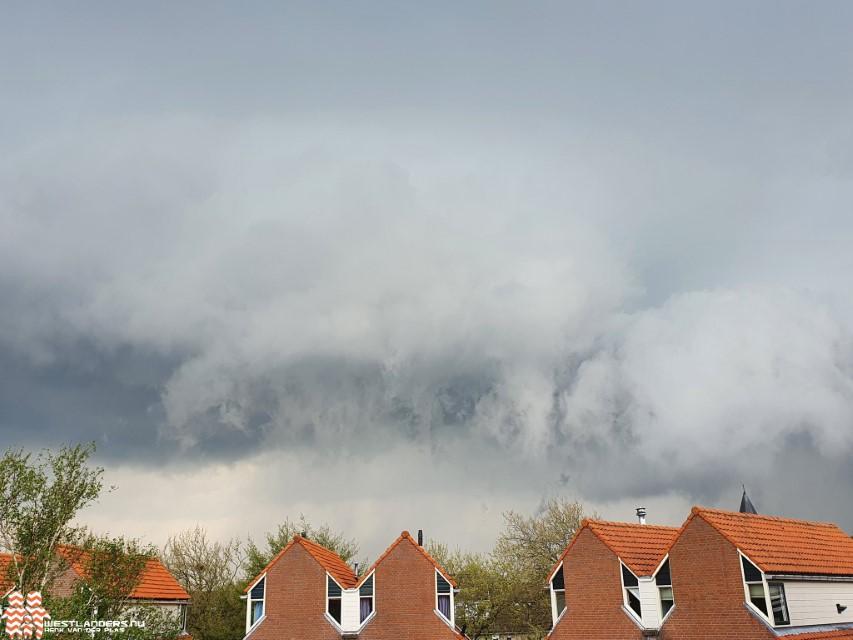 Veel neerslag tijdens regen en onweersbuien donderdagavond