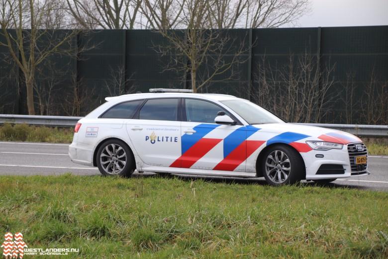 Arrestatie na achtervolging op de A4