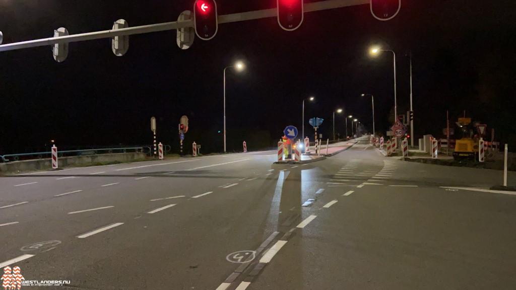 Weekendafsluiting N213 tussen Naaldwijk en Poeldijk