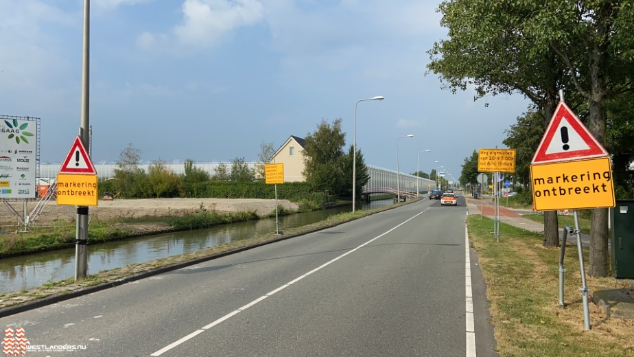 Wegafsluiting Nieuweweg Honselersdijk tot februari 2022