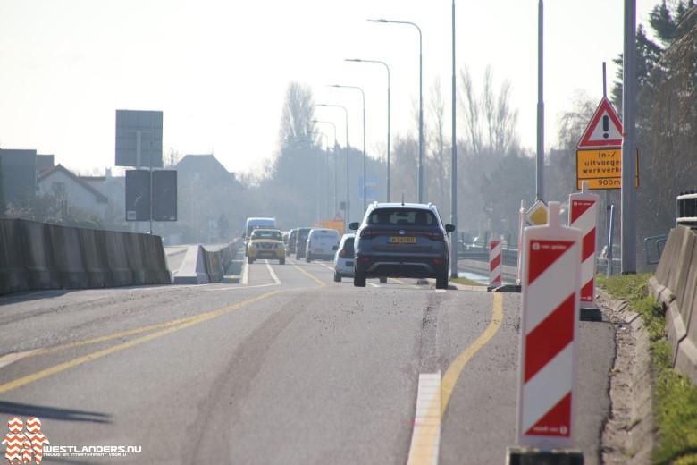 Wegversmalling aan de Nieuweweg (N213)