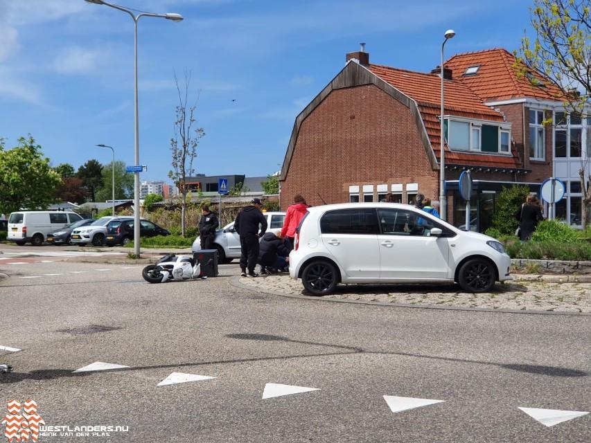 Pizzakoerier gewond bij ongeluk Noordweg