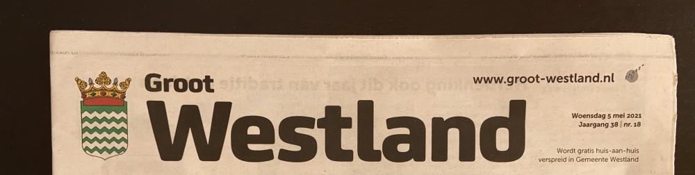 Weekkrant Groot Westland stopt eind mei