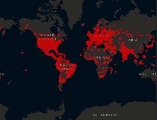 Cijfers coronavirus wereldwijd voor week 29