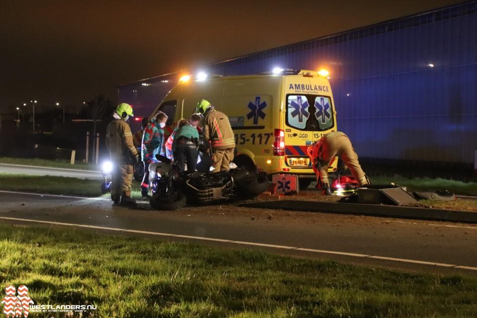 Motorrijder gewond bij ongeluk Noordlandseweg