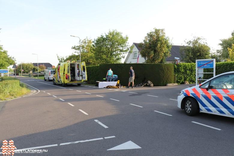 Fietsster gewond na ongeluk bij Kersenlaan