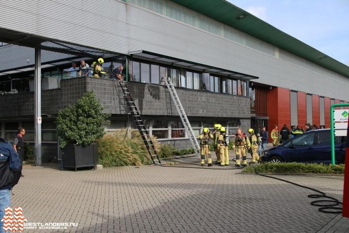 Brand na werkzaamheden op buitenterras