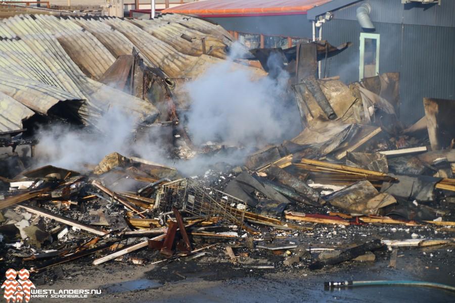 Strandpaviljoen Zwoel in de as na zeer grote brand