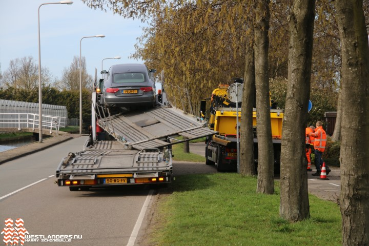 Ongeluk met autotransporter aan de Nieuweweg
