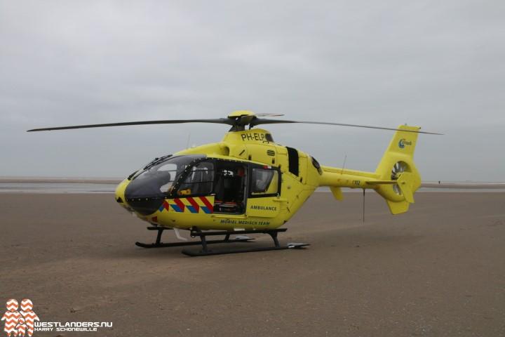 Traumahelikopter inzet voor gevallen ruiter