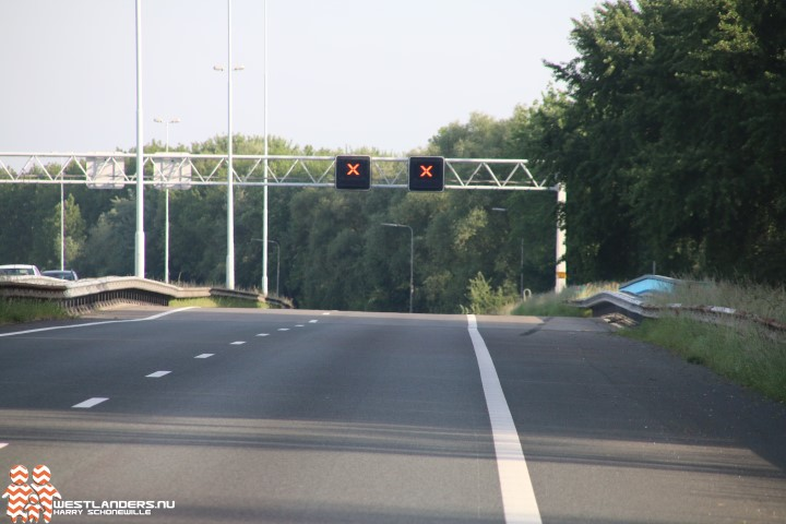 Dit weekend afsluiting A20 tussen Maasdijk en Maasland