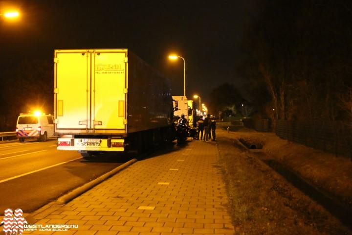 Voetganger veroorzaak schuiver scooter op de Nieuweweg