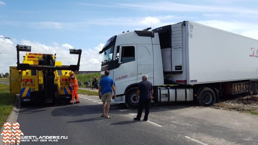 Vrachtwagen Paul Captijnlaan eindelijk vlot getrokken