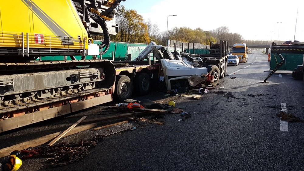 Verkeerschaos op ring Rotterdam na dodelijk ongeluk A16