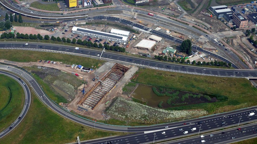 Afsluiting A4 bij knooppunt Ypenburg