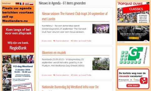 Agendabericht plaatsen op Westlanders.nu geautomatiseerd
