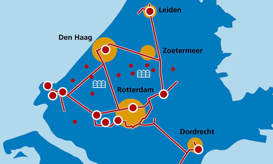 Collegevragen inzake aansluiting Maassluis aan het warmtenet