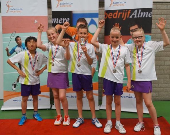 BC Mix jeugdteam 6 is derde van Nederland
