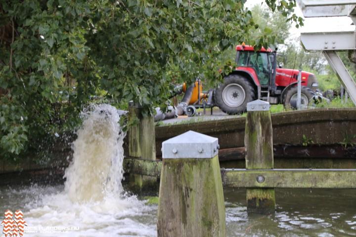 Delfland verlaagt waterpeil vanwege neerslag