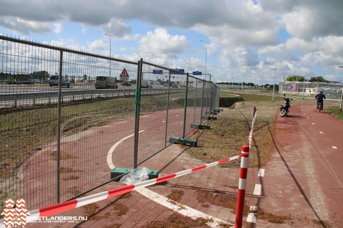 Modder in nieuwe fietstunnels vanwege stortbuien