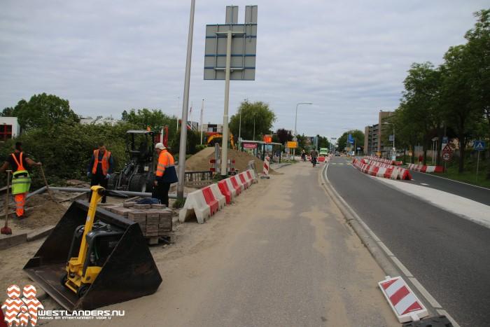 Middel Broekweg gedeeltelijk afgesloten tot augustus