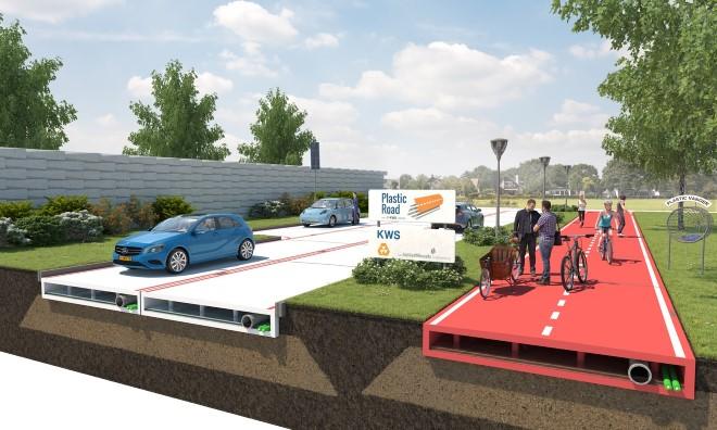 D66: proef met plastic wegen in Westland