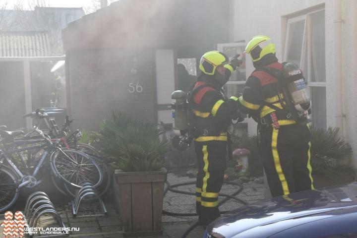 Middelbrand in woning aan de Hofstraat