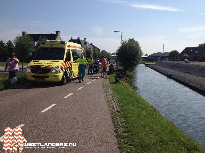 Scooter te water aan de Noord Lierweg