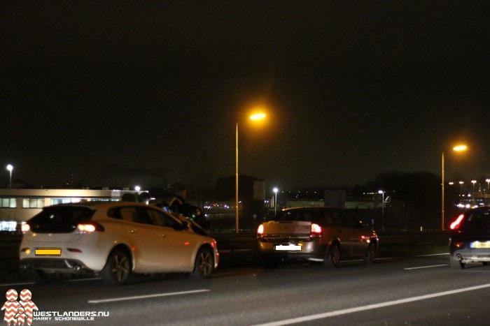 File op rijksweg A20 door ongeluk
