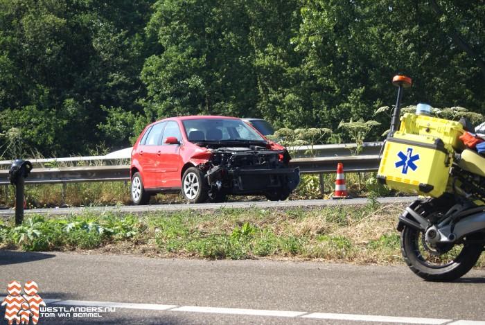 Flinke file door ongeluk op de A20