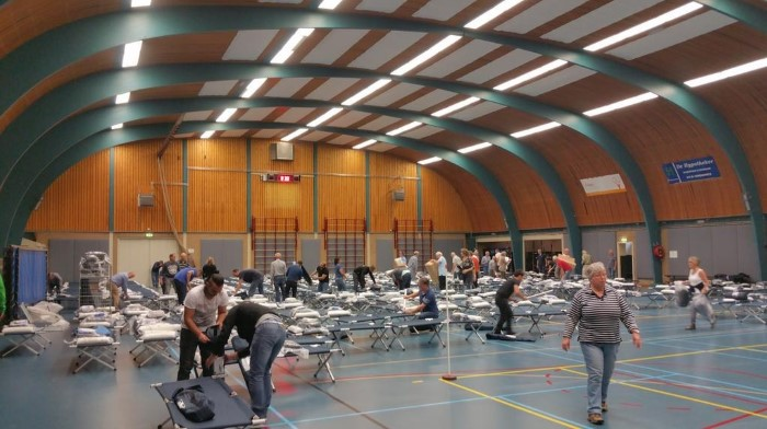Maassluis richt Olympiahal in voor noodopvang vluchtelingen