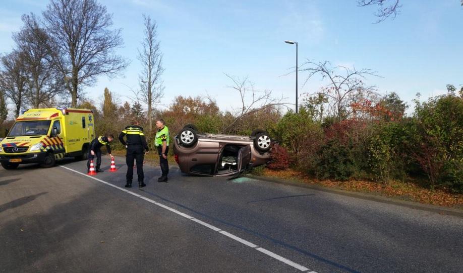 Automobilist gewond bij ongeval Westlandseweg