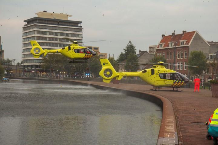 Water- en treinongeluk in Schiedam
