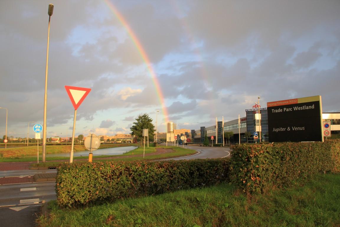 Prachtige regenboog over het Westland