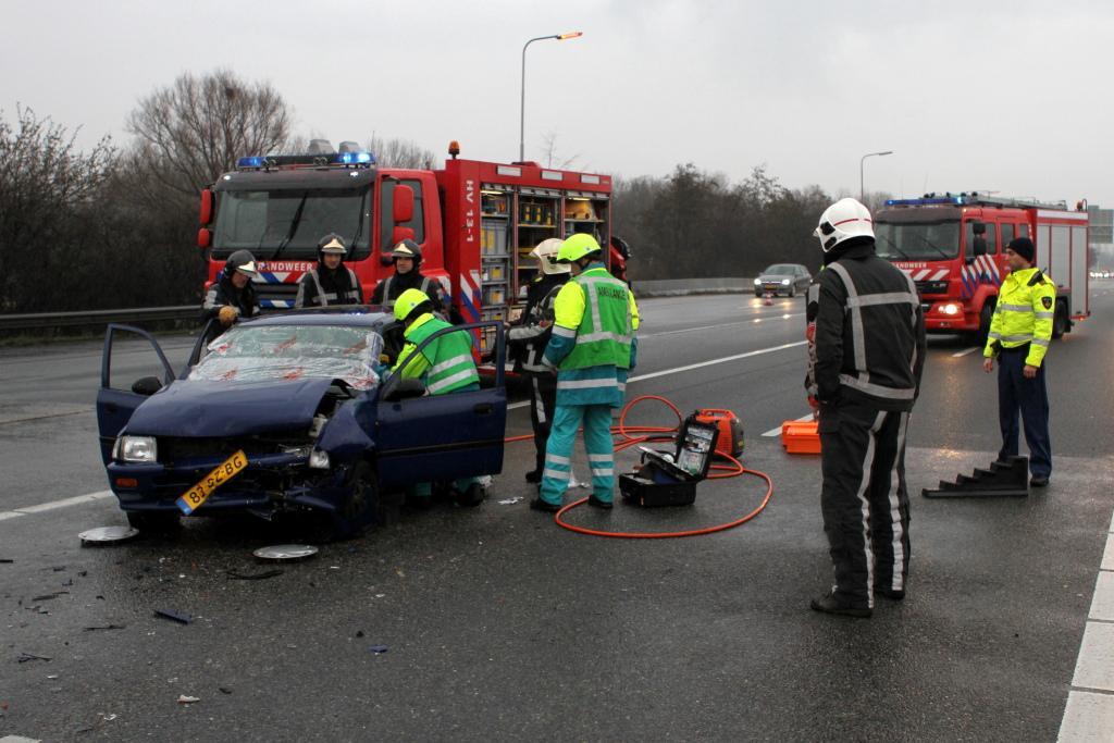 Meerdere gewonden bij ongeluk op de A20
