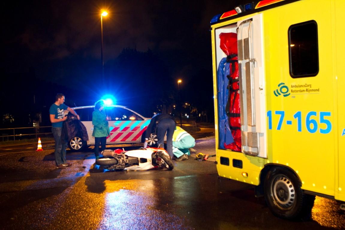Motorrijder rijdt door na ongeluk