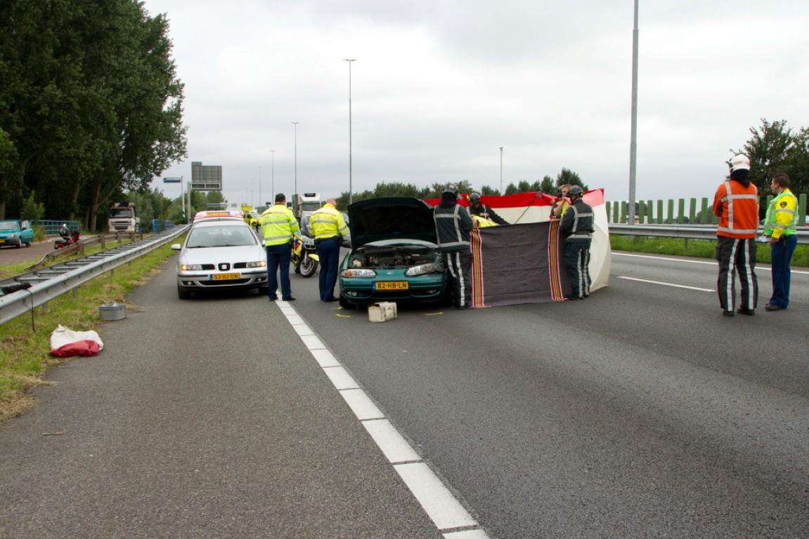 Verkeerschaos na ongeluk op de A13