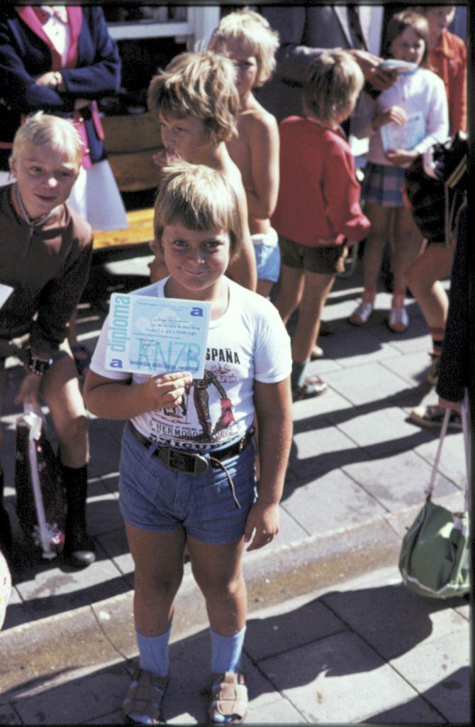 1974: mijn eerste zwemdiploma