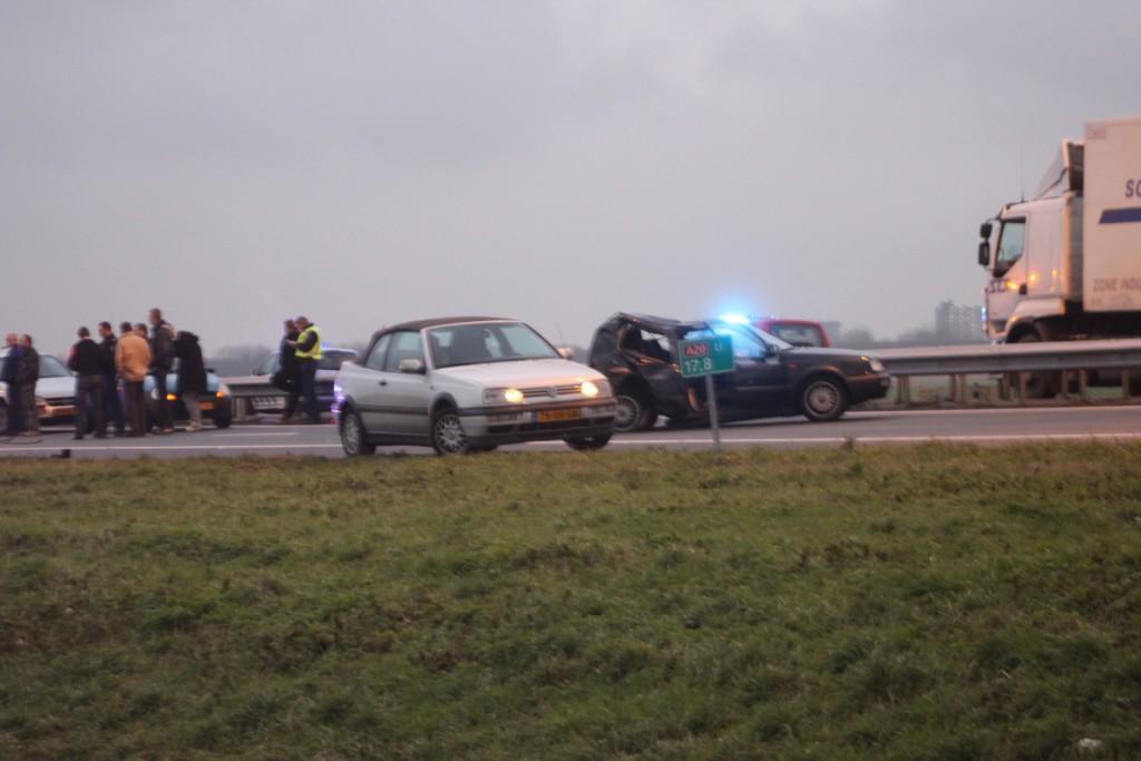 nader onderzoek naar veroorzaker ongeluk  op A20