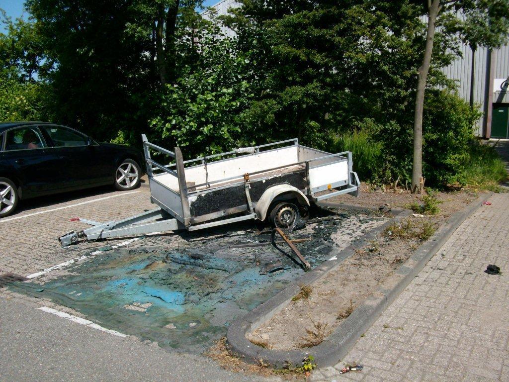 Autobrand op Van Leeuwenhoekstraat